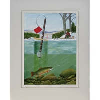 "Ice Fishing Print ""Brookie Heaven"" (Brook Trout)"