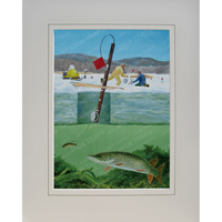 "Ice Fishing Print ""Turn Pike"" (Northern Pike)"