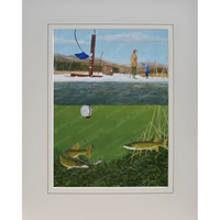 "Ice Fishing Print ""Chain Reaction"" (Pickerel)"