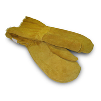 Pile Lined Extra Warm Cowhide Mittens