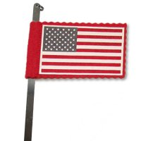 "Specialty Flag on 33"" Stainless Spring Steel"