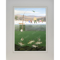 Ice Fishing Print White Perch