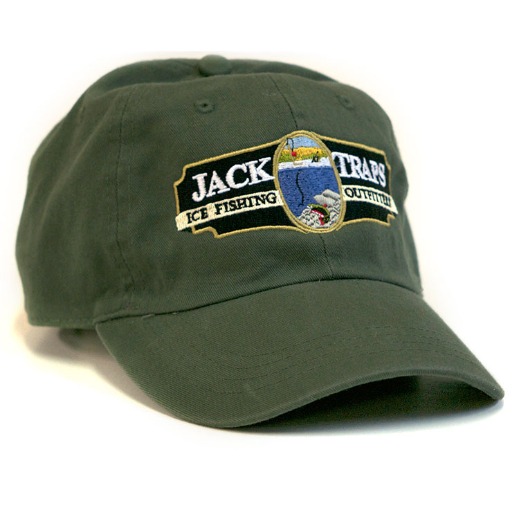 jack traps baseball cap fishing logo caps fly hats salmon embroidered